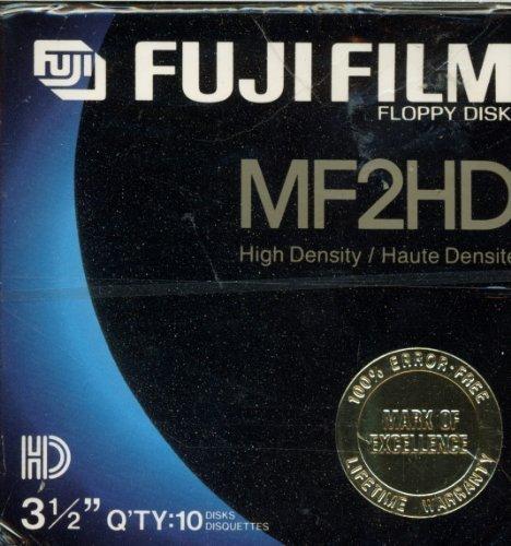 Fuji Film MF2HD High Density 3.5 Inch Floppy Disks - 10 ()
