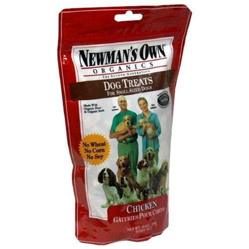 Newman's Own Organics Premium Dog Treats, Chicken, Small Size, 10-Ounce Bags (Pack of 6)