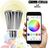 Flux Bluetooth LED Smart Bulb - Wireless Multi Color Changing Light For Kitchen, Bedroom- App Controlled Sunrise Wake Up Light - Sunset Sleeping Light - Dimmable Colorful Night Light - No Hub Required