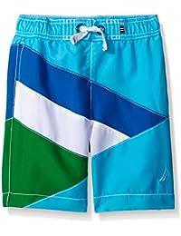Nautica Boys' Geometric Colorblock Swim Trunk