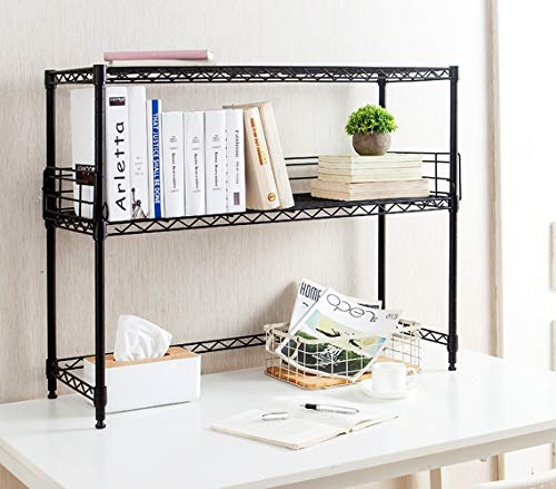 Suprima Desktop Carbon Steel Black Bookshelf