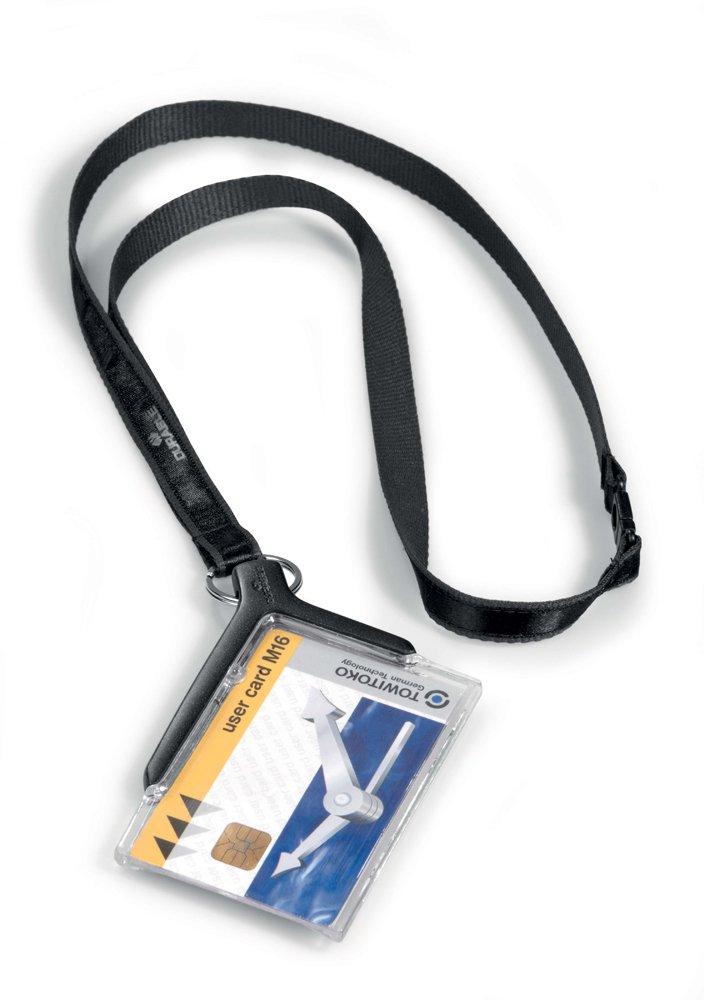 Durable 8207/58 Porte-badge avec cordon tissu Lot de 10 820758 Badges Porte-badges