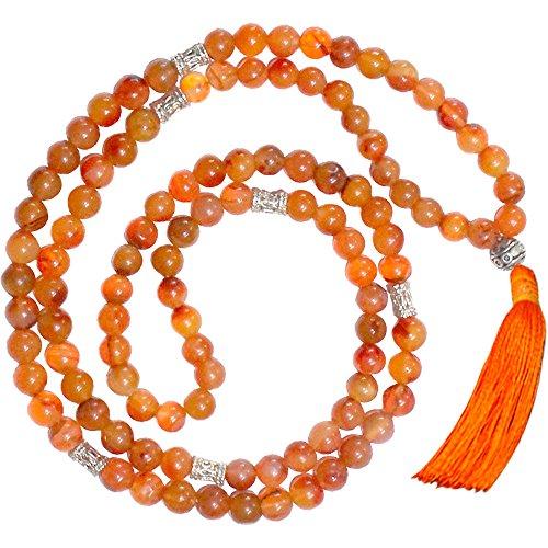 Mala Prayer Beads Carnelian