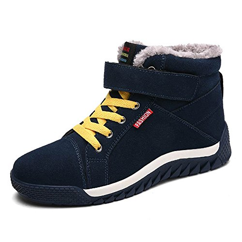 JACKSHIBO Men's Winter Warm Sneakers Fur Lining Outdoor Shoes Green 6Z6sid7Q