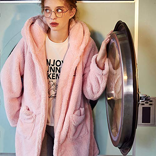 Señoras Animados Vellón Dibujos Camisones Coral Invierno Dos Grueso Rosa Ropa Conjunto Pijamas Piezas Dormir Arco Franela De Calidad Noche Olliuge wx4TaIqOI