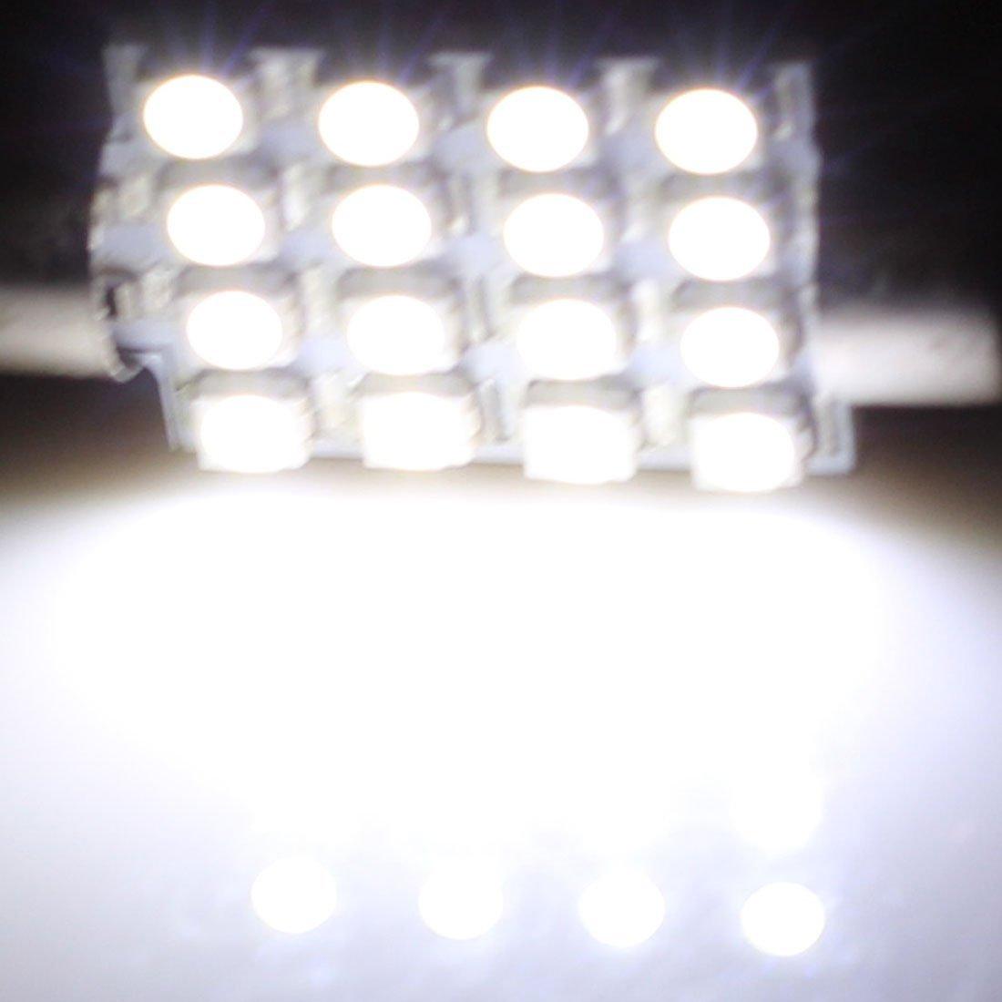 Amazon.com: eDealMax 2 piezas DE 39 mm 3528 16 LED Blanca Adorno de la bóveda Mapa Luz 6411 6413 DE3423: Automotive