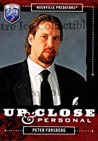 (CI) Peter Forsberg Hockey Card 2006-07 Be a Player Up Close and Personal 46 Peter Forsberg