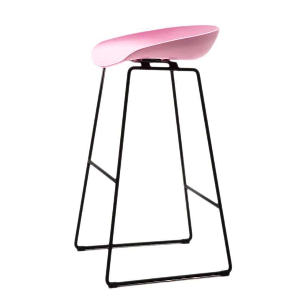 Barstoo バーチェア鍛鉄ファッションハイスツールシンプルバースツールノルディックモダンクリエイティブホームフロントデスク (色 : Pink, サイズ さいず : 73*45CM) 73*45CM Pink B07K8MZTXN