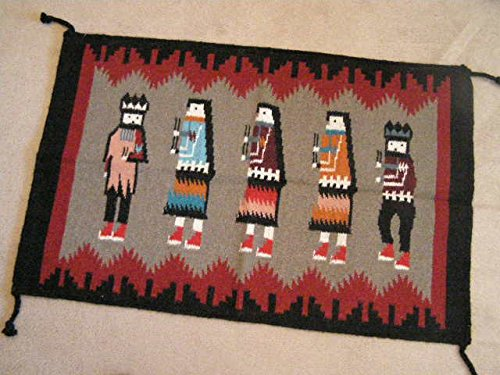 (Mission Del Rey Southwest Wool Tapestry Rug 24x36 -Yei Dancers)