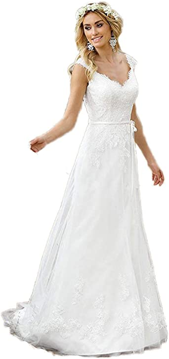 Automan Wedding Dresses Appliqued Lace A Line Sweetheart Princess Bridal Gowns