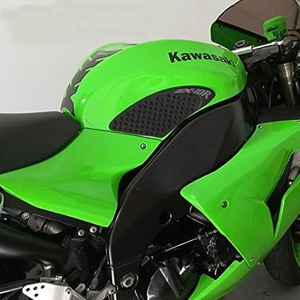 Black GZ Knight of God For Kawasaki ER-6N ER6N ER 6N 2012-2016 Motorcycle Protector Anti slip Tank Pad Sticker Gas Knee Grip Traction Side 3M Decal
