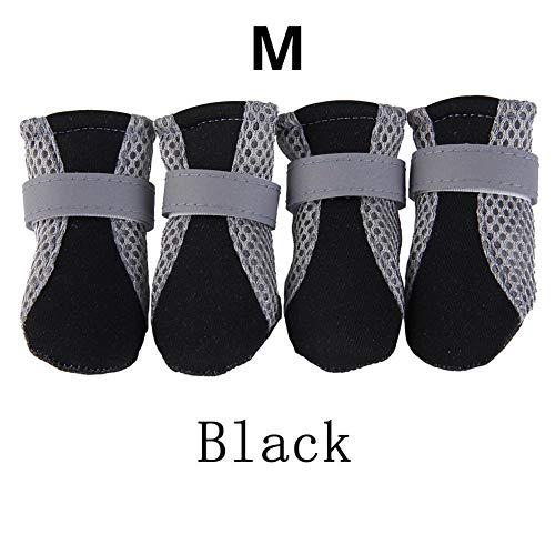 Antidérapant De Étanche Unisexe Noir Noir Chien Protection Pluie Taille Chaussures Pour L Bottes Soled Soft Etbotu xUqAngCwA