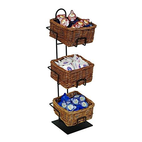 3-Tier 3 Rectangular Willow Basket Counter Display Rack by Mobile Merchandisers (Image #5)
