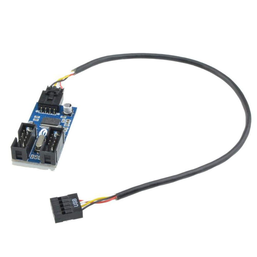 LHQ-HQ 9Pin USB Header Male 1 to 4 Female Extension Splitter Cable 9 Port Multiplier Board Woodworking Tools