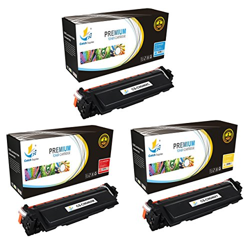 Catch Supplies 046H 3 Pack color High Yield Premium Replacement Toner Cartridge Compatible with Canon Color ImageCLASS MF731Cdw, MF733Cdw, MF735Cdw, LBP654Cdw  046HC Cyan, 046HM Magenta, 046HY Yellow  -  CS-CN046X-CL3PK