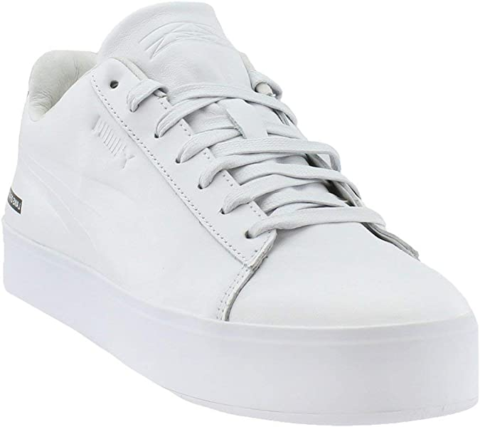 440d3f241a4e25 PUMA Mens Black Scale Court Platform Casual Athletic   Sneakers White