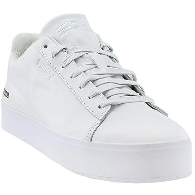 113de7d03ff75 PUMA Mens Black Scale Court Platform Casual Athletic & Sneakers White