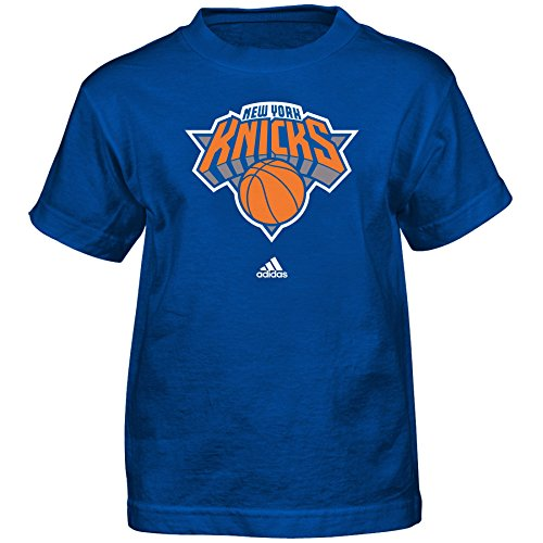 fan products of NBA New York Knicks Boys Full Primary Logo Short Sleeve Tee, Large (7), Royal