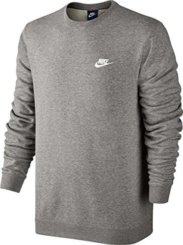 Club Grey Nike Heather Dark Ft Sportswear Crew blanc Homme Sweatshirt 5qOnZ6HWO