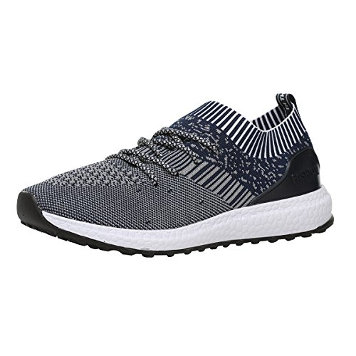 RomenSi Mens Sneakers Lightweight Breathable Gym Tennis Athletic Running Shoes