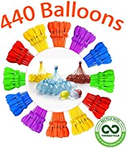 Self Sealing Water Balloons 444 Balloons with 12 Packs For Kids and Adults Party Self Sealing Ballons Easy Qui
