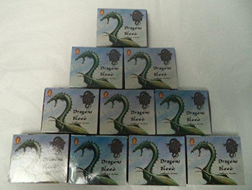 Kamini Incense Cones: Dragons Blood - 10 Packs of 10 = 100 Cones