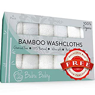Bamboo Washcloths - Organic Baby Wash Cloths Towels - Soft Face Cloth Towel Sets