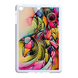 3D iPad Mini 2D Case, Abstract Watercolor Hard Case For iPad Mini 2D(White) Yearinspace065367 by ruishername