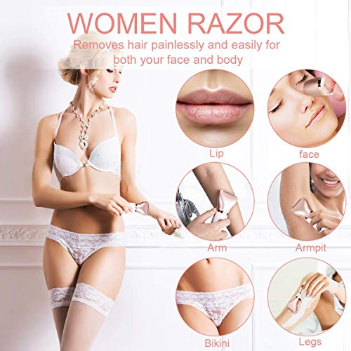 Electric Razor for Women, Tencoz Hair Removal for Women 2 in 1 Wet & Dry Rechargeable for Legs Underarms and Bikini Pop…