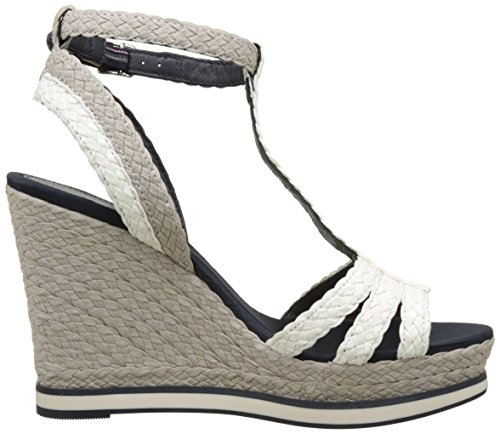 Tommy Hilfiger Damen V1285ancouver 1s Plateau Weiss (whisper Bianco-ciottoli 016)
