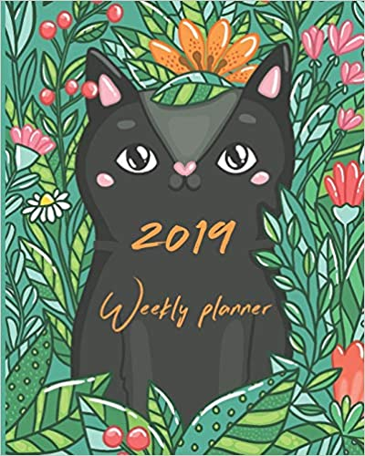 Free PDF Book 2019 Weekly Planner: Calendar Schedule Organizer and Journal Notebook with Cute Cats Design