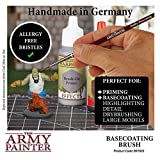 The Army Painter Model Paint Brush - Durable Wooden Basecoating Brush with Toray Synthetic Hair