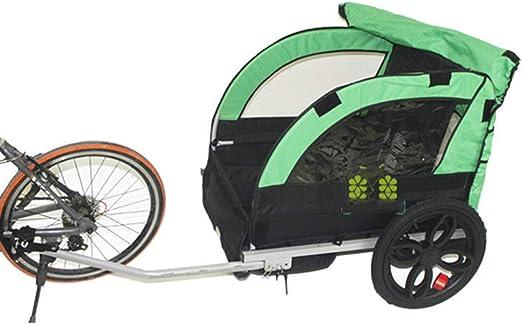 QWERTOUY 2 Remolque de Bicicleta para niños/niños detrás del ...