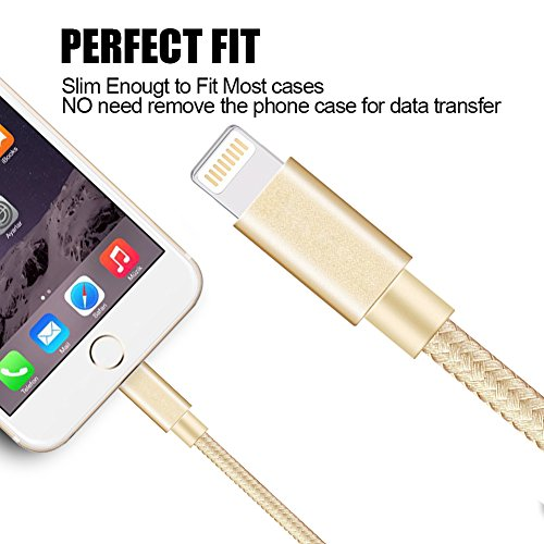 Hot Sale Aonsen Lightning Cable 3pack 10ft Nylon Braided Certified