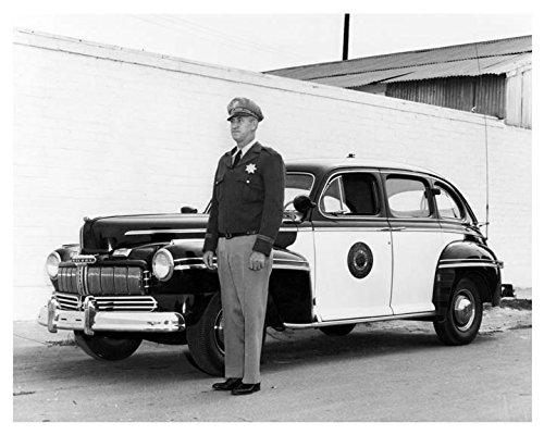 Mercury Police Car - 1946 Mercury California Highway Patrol Police Car Photo Poster