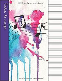 Cahier De Musique Cahier De Partitions Couverture