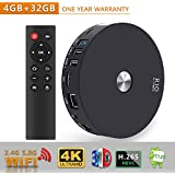 TV Box - SCS ETC R10 4GB RAM 32GB ROM Android 7.1 TV Box with Bluetooth 4.1/Dual Channel Wifi 2T2R, RK3328 Quad-Core 64bit Cortex-A53 Smart Android TV Box