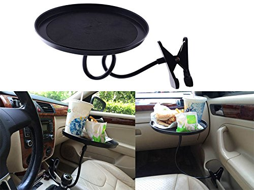 Sedeta® Car Swivel Tray holder Storage Bin 360 Degree Swivel food table with clip Fits Most vehicle Cup Holder Stable OEM