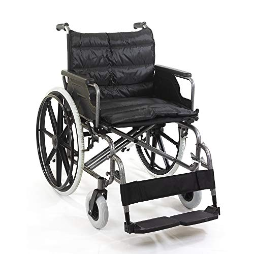 KosmoCare Deluxe Heavy Duty Premium Foldable Wheelchair Ideal for Heavy Patients
