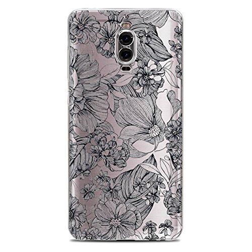 Vanki® Huawei Mate 9 Pro Funda, Protectiva Carcasa de Silicona de gel TPU Transparente Ultra delgada Amortigua los golpes Case Cover Para Huawei Mate 9 Pro Tecnología IMD 03
