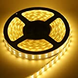 16.4ft 5m Waterproof Flexible 300leds Color Warm White Smd5050 LED Light Strip Kit Without 12v Power Supply Ideal for Gardens, Homes, Kitchen, Under Cabinet, Aquariums, Cars, Bar, DIY Party Decoration Lighting - Mood Light by Eastchina
