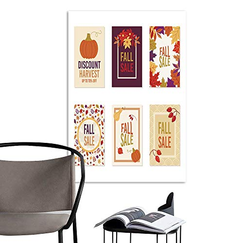 - Art PaintingsHome DecorationsThanksgiving autumn fall sale banner Flyer card poster holiday birthday invitation card template with pumpkin squash leaves and flowers including one on retro line seaml