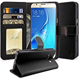 J5 2016 Case, Tauri [Stand Feature] Wallet Leather Case with Card Pockets Protective Case Flip Cover For Samsung Galaxy J5 (2016) - Black