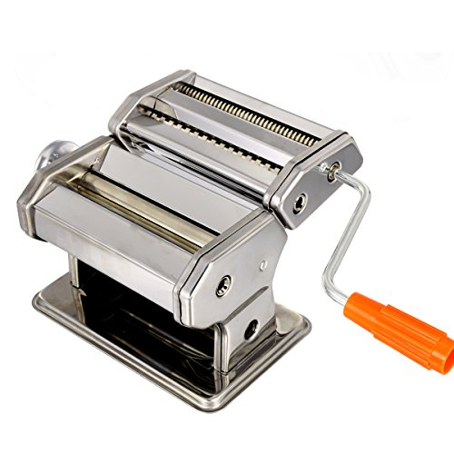 Pasta Maker Machine, Stainless Steel roller and cutter for Spaghetti , Fettuccine and Noodle , include 2 Blades (TYPE B) by Jaketen (Image #1)