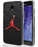 Galaxy J7 Refine 2018 Case, Galaxy J7 V/J7 Star/SM-J737, Ailiber Shot Sport Dunk MJ Black Shock Proof Fingerprint Lightweight TPU Protective Cover for Samsung GalaxyJ7 2018 5.5inch- Basketball