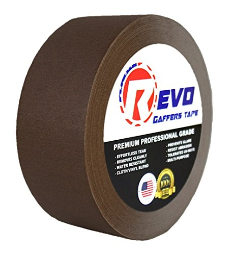 revo-premium-professional-gaffers-tape-2-x-30-yards-made-in-usa-brown-gaffers-non-reflective-tape-ca