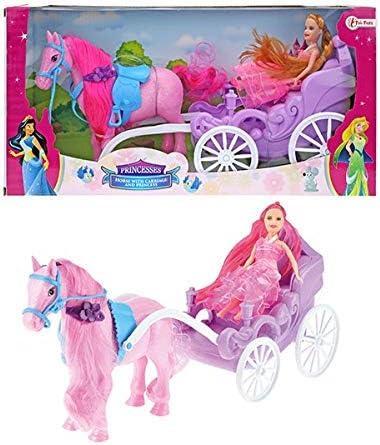 TOI TOYS 05956A Cavallo con Carrozza e Principessa