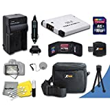 Ideal Accessory Kit for Canon Powershot A2300 IS, A2400 IS, A2500, A2600, A3400 IS, A3500 IS, A4000 IS, ELPH 110 HS, ELPH 115 HS, ELPH 130 HS, ELPH 320 HS, ELPH 340 HS Digital Cameras Includes 16GB High Speed Memory Card + 1 High Capacity NB-11L NB11L Lit