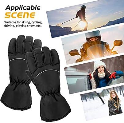 Ski Moto Chauffe-Mains Patinage /équitation Coupe-Vent randonn/ée E-More Gants Chauffants pour Femme Aliment/és par Piles v/élo pour Sports de Plein air
