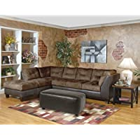 Serta Upholstery 2550LFCHS 2550LFCHS02 Transitional Style Left Facing Chaise in Sanmar, Chocolate